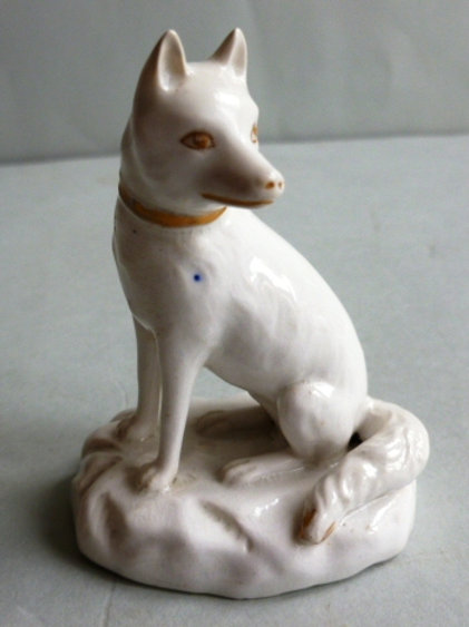 SUPERB EARLY 19THC STAFFORDSHIRE DERBY GROUP OF A FOX