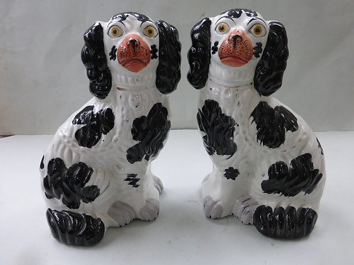 PAIR 19THC. STAFFORDSHIRE DOGS C.1850 Ref.  3717