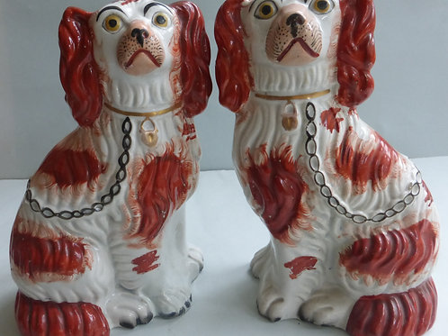 19TH CENTURY STAFFORDSHIRE DOGS # 3158