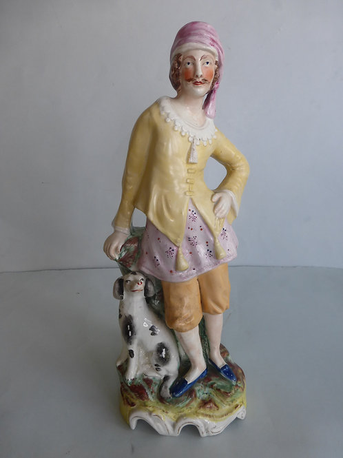 Superb Unusual 19thc. Theatrical Staffordshire Figure Ref # 4364