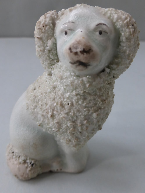 19THC. STAFFORDSHIRE POODLE # 3328