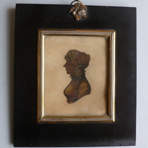 ENGLISH SCHOOL - EARLY 19THC PORTRAIT SILHOUETTE OF A LADY