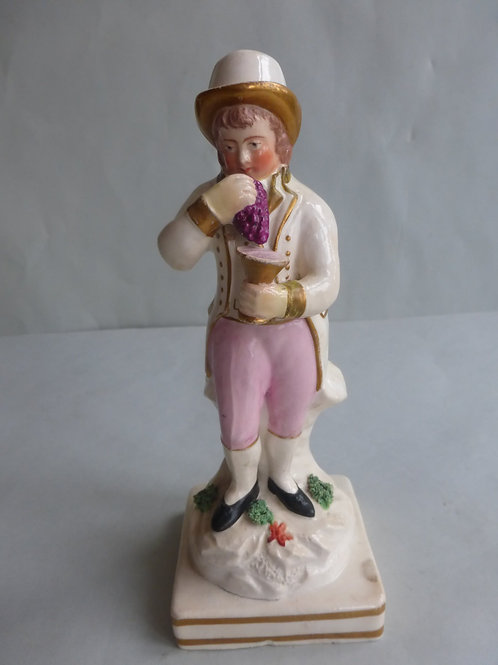EARLY 19THC. STAFFORDSHIRE PEARLWARE FIGURE OF AUTUMN Ref # 4498