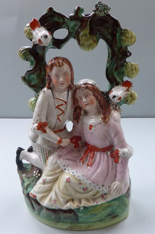 19TH CENTURY STAFFORDSHIRE ARBOUR GROUP