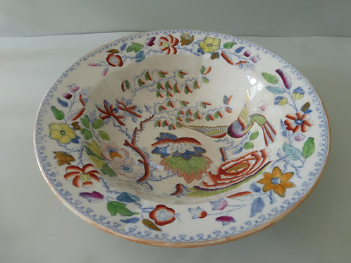 MASONS IRONSTONE LARGE SHALLOW BOWL FLYING BIRD PATTERN