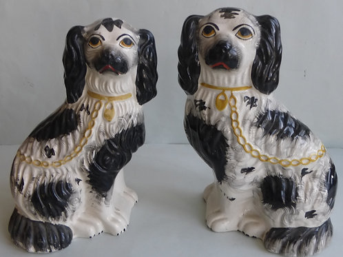 19TH CENTURY STAFFORDSHIRE DOGS # 3206