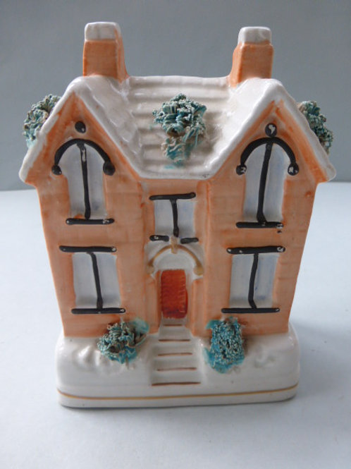 19thc. Staffordshire Cottage Money Box c.1860