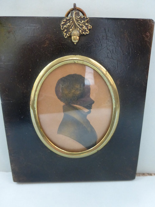 ENGLISH SCHOOL EARLY 19THC PORTRAIT SILHOUETTE OF A YOUNG BOY