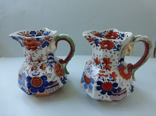 MASONS IRONSTONE JUGS IN IMARI PATTERN