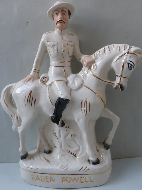 LATE 19THC. STAFFORDSHIRE TITLED BADEN POWELL