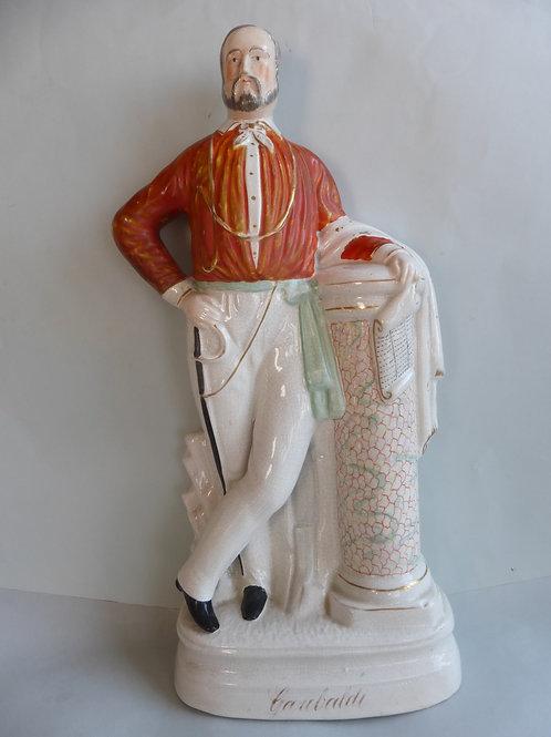 Lrgae 19thc. Staffordshire figure titled GARIBALDI - Ref # 4352