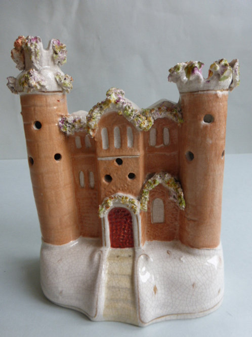 19THC. STAFFORDSHIRE POTTERY CASTLE
