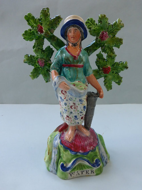 19thc. Staffordshire Pearlware titled WATER