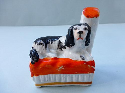 MINIATURE 19THC. STAFFORDSHIRE DOG Ref. 3778