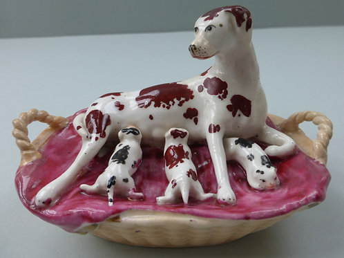 19THC STAFFORDSHIRE DOG # 3449
