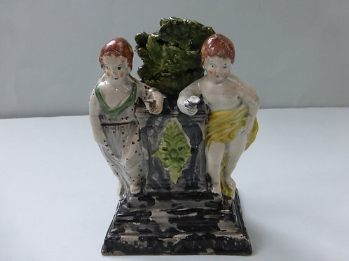 EARLY 19THC. STAFFORDSHIRE PEARLWARE GROUP CHILDREN