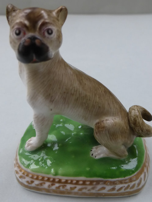 19THC. STAFFORDSHIRE PUG DOG # 3500