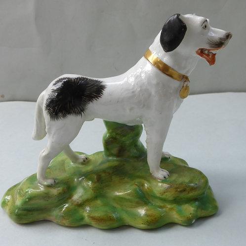 19THC. STAFFORDSHIRE NEWFOUNDERLAND DOG # 3495