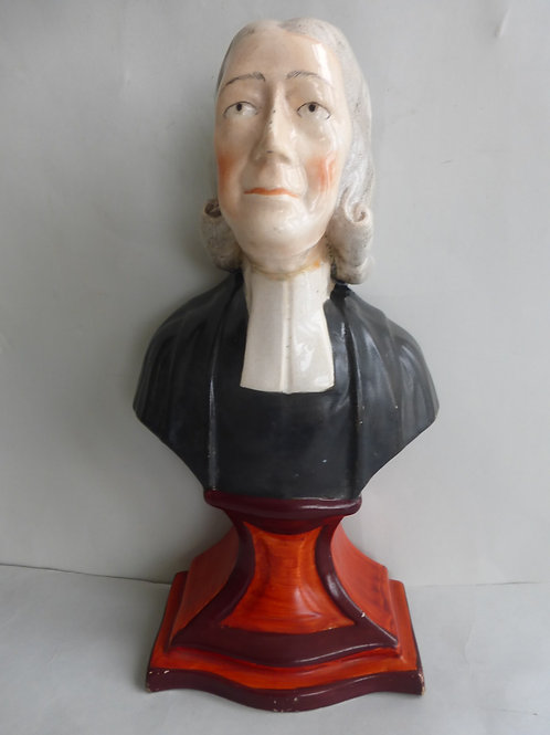 Early 19thc. Staffordshire Pearlware Bust Rev. John Wesley Ref # 4528