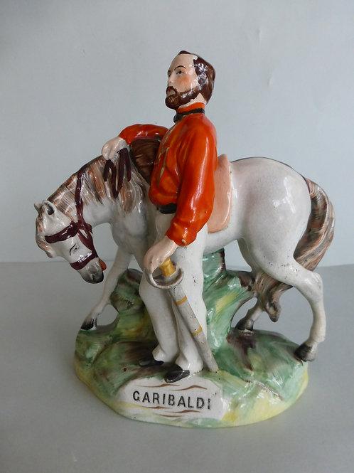 19THC. STAFFORDSHIRE GARIBALDI C.1850