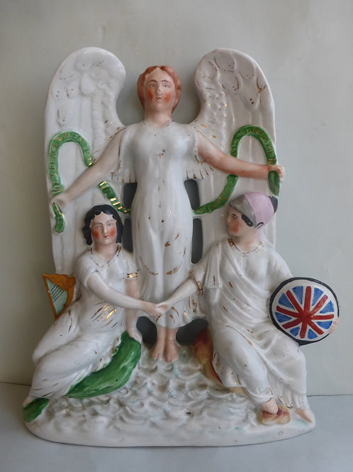 Rare 19thc. Staffordshire Political Figure Peace with Ireland c.1882