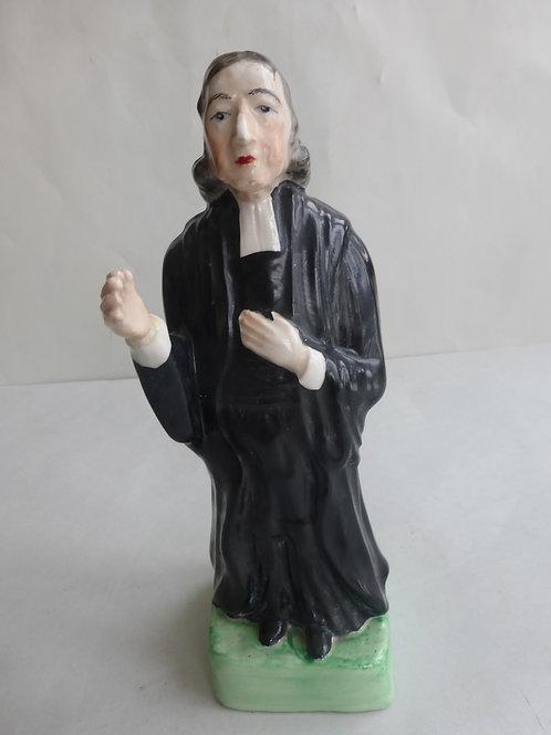 19thc. Staffordshire Portrait figure of Rev. John Wesley Ref # 4530