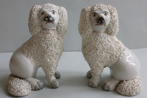 19TH C STAFFORDSHIRE POODLE # 2426