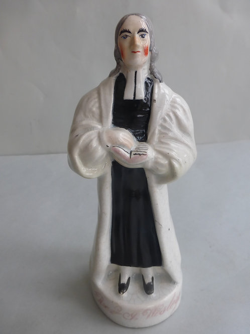 19thc. Staffordshire Portraitfigure of Rev. John Wesley Ref # 4532