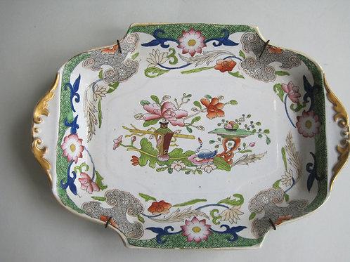 MASONS IRONSTONE TABLE AND FLOWERPOT DESSERT DISH