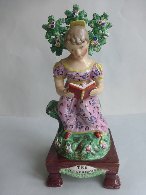 19thc. STAFFORDSHIRE TITLED READING MADE BY OBIDIAH SHERRATT C.1820 Ref # 4426