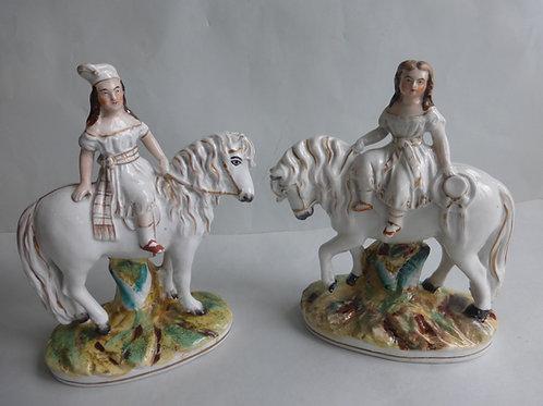 Pair 19thc. Staffordshire figures of Prince & Princess c.1860 Ref # 4600