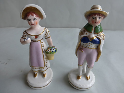 PAIR WELL MOULDED PORCELLANOUS STAFFORDSHIRE