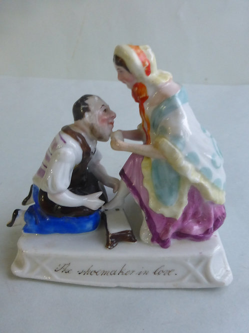 Rare 19thc. Continental Fairing THE SHOEMAKER IN LOVE Ref #4475