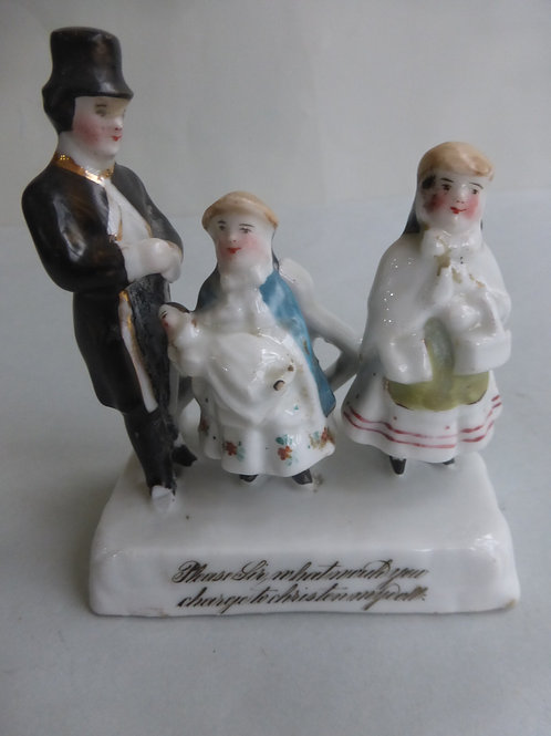 19thc. Continental Fairing PLEASE SIR WHAT WOULD YOU CHARGE TO CHRISTEN MY DOLL