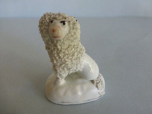 19thc. Miniature Toy Staffordshire Poodle c.1840