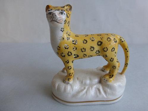 19thc. Staffordshire Porcellanous Leopard c.1840 Ref # 4381