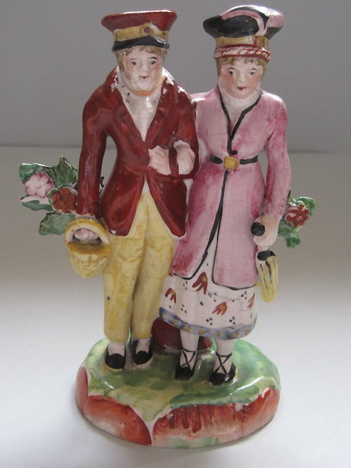 LATE 19THC STAFFORDSHIRE GROUP OF DANDIES
