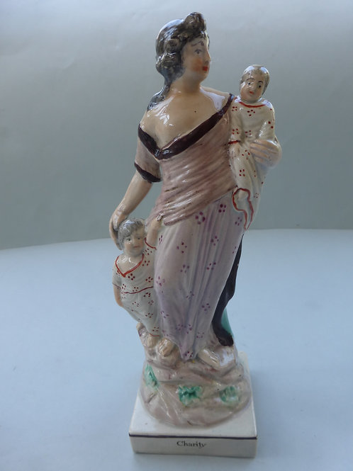 Early 19thc. Staffordshire Pearlware titled CHARITY by Ralph Wood. Ref. # 4288