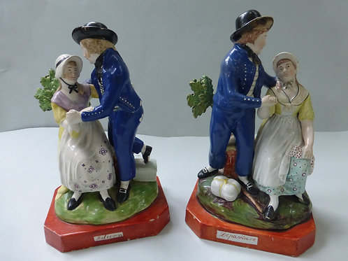 SUPERB PAIR EARLY STAFFORDSHIRE, DEPARTURE & RETURN