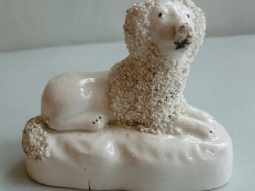 19THC. STAFFORDSHIRE POODLE # 2621