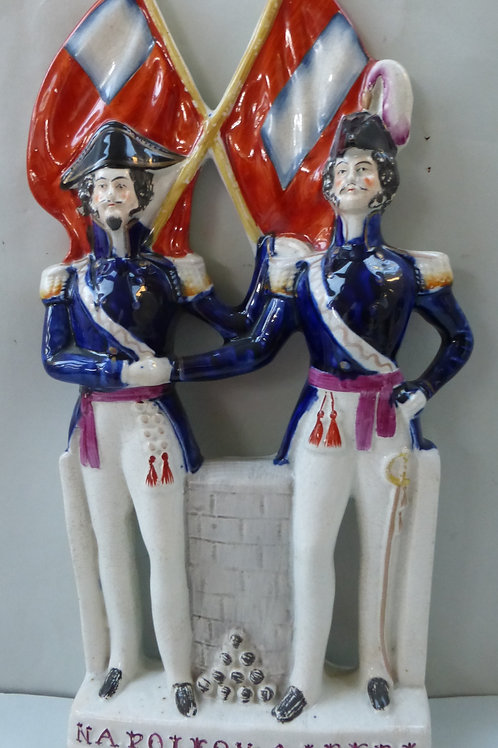 19THC MILITARY STAFFORDSHIRE OF NAPOLEON & ALBERT