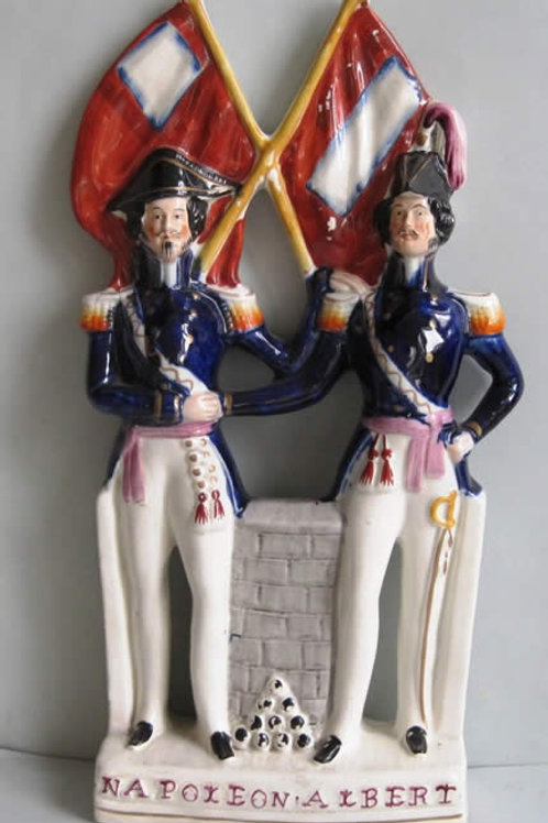 19THC. MILITARY STAFFORDSHIRE ALBERT AND NAPOLEON