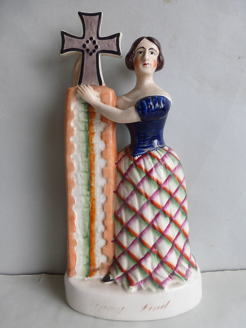 Rare 19thc. Staffordshire Theatrical Figure JENNY LIND Ref # 4584