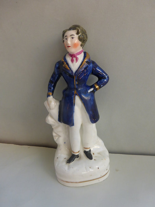 19thc.Porcellanous Staffordshire of an Actor Ref # 4301