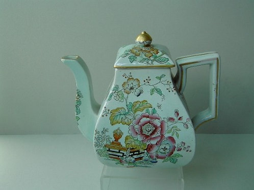 19THC. ASHWORTH TEAPOT TABLE AND BLOSSOM PATTERN C.1870