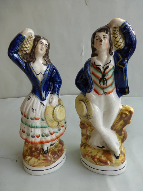 PAIR 19THC STAFFORDSHIRE THEATRICAL FIGURES