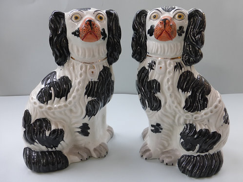 PAIR 19THC STAFFORDSHIRE DOGS # 3471
