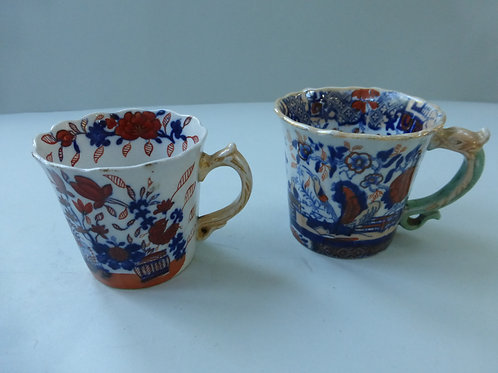2 off MASONS IRONSTONE COFFEE CANS IN IMARI PATTERN