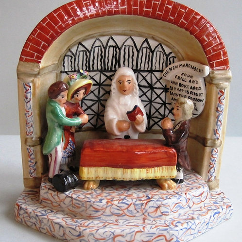 LATE 19THC STAFFORDSHIRE NEW MARRIAGE ACT C1870