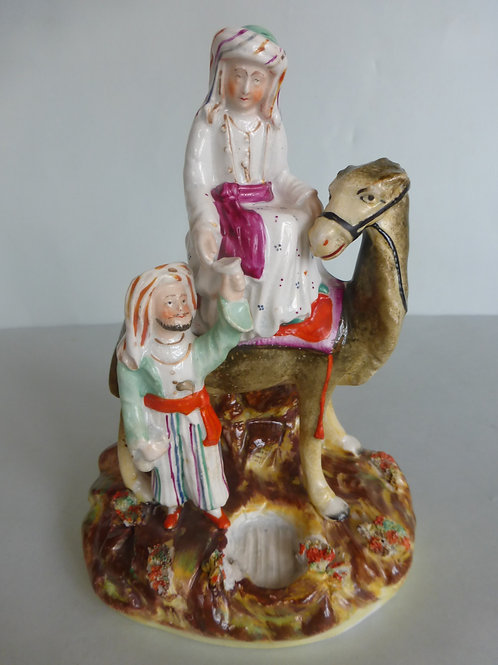 19thc. Staffordshire Portrait figure Lady Hester Stanhope with Camel Ref # 4174